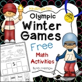 Kindergarten Winter Olympics Math Activities Freebie