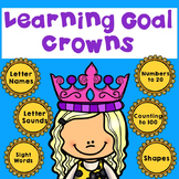 Kindergarten Student Data Tracking and Goal Setting Crowns
