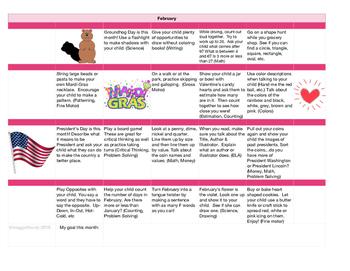Learning Activities Calendar - February
