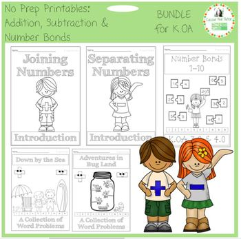 Learning Addition,Subtraction & Number Bonds K.OA BUNDLE