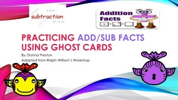 Learning Addition and Subtraction Facts Using Ghost Cards