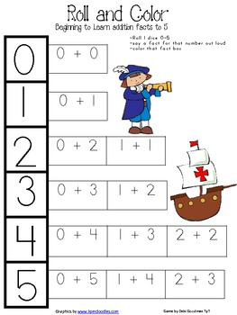 Learning Addition to 5 Game Boards