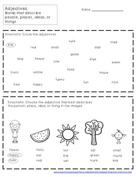 Learning Adjectives / Adjetivos