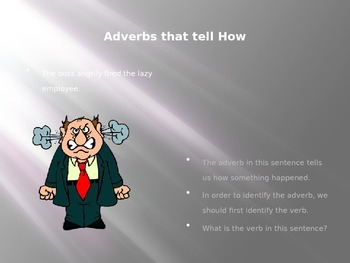 A Power Point for Learning Adverbs and Adjectives with Mentor Sentences