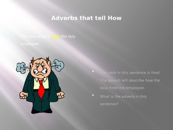 A Power Point for Learning Adverbs and Adjectives with Men
