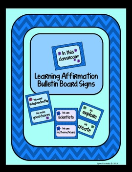 Learning Affirmation Bulletin Board Signs