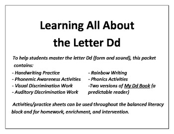 Learning All About the Letter D!