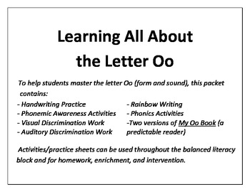 Learning All About the Letter O!