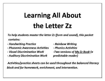 Learning All About the Letter Z!
