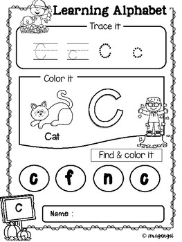 Learning Alphabet Autumn Activities