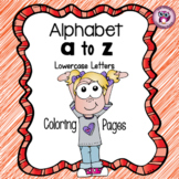 Learning Alphabet By Coloring {Lowercase Letters}