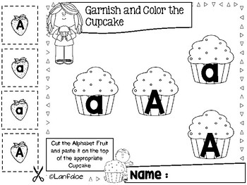 Learning Alphabet Fun with Cupcake
