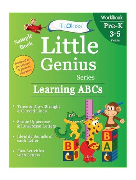 Learning Alphabet Part-3: Crosswords: Little Genius Pre-Kindergarten  Worksheets