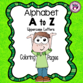 Learning Alphabet By Coloring {Uppercase Letters}