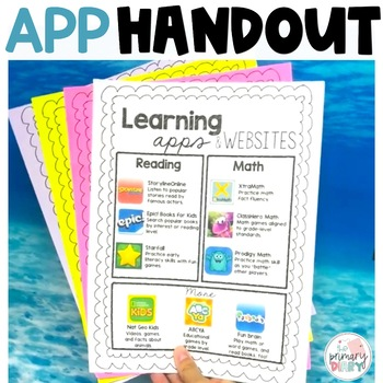 Learning App and Website Handout