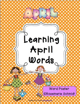 Learning April Words K-4