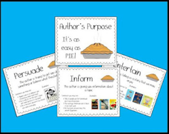 """Learning Author's Purpose is """"Easy as Pie"""""""