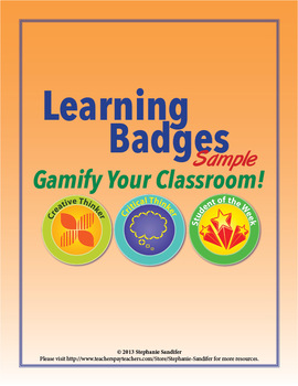 Learning Badges Sampler - Gamify Your Classroom!