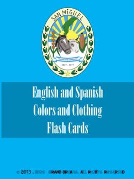 Learning Basic English and Spanish Flash Cards