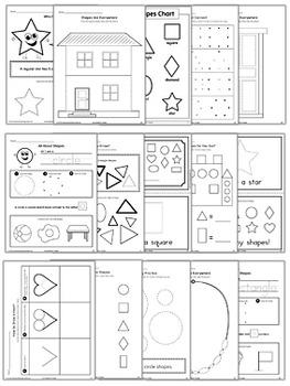 Learning Basic Shapes Workbook {BW}