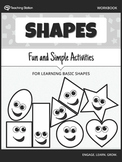 Learning Basic Shapes Workbook {BW}