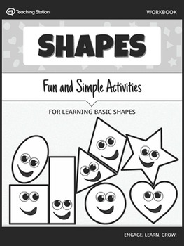 Learning Basic Shapes Workbook in BW