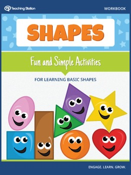 Learning Basic Shapes Workbook in Color