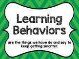 Learning Behaviors Posters