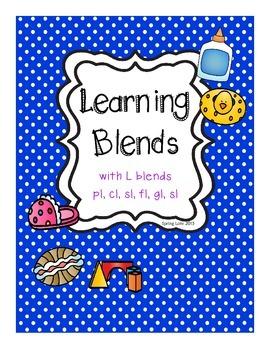 Learning Blends - Printable Fun - gl, sl, cl, pl, fl, bl
