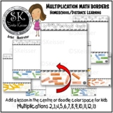 Learning Borders Multiplication Facts