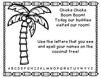 Learning Buddies: Chicka Chicka Boom Boom Names Activity