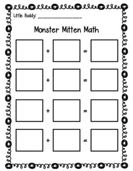 Learning Buddies: Winter Monster Mitten Math