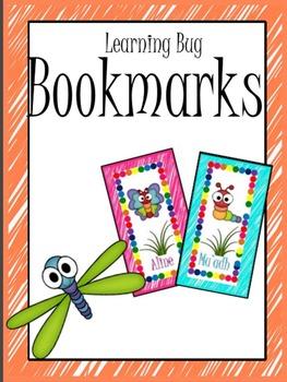 Learning Bug Theme Bookmarks
