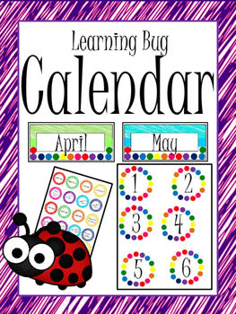 Learning Bug Theme Calendar
