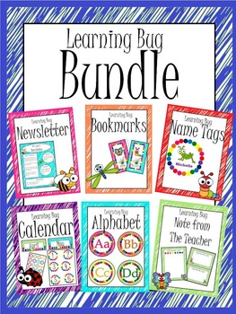 Learning Bug Theme Complete Bundle