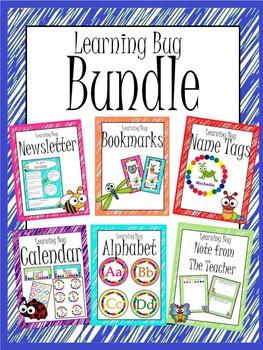Learning Bug Theme Complete Bundle