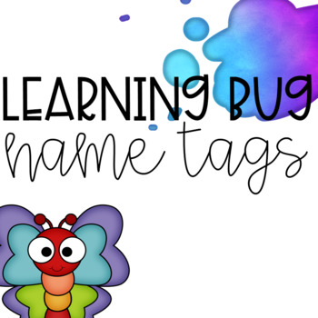 Learning Bug Theme Name Tags