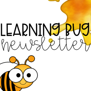Learning Bug Theme Newsletter