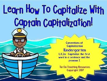 Learning Capitalization Rules In Kindergarten