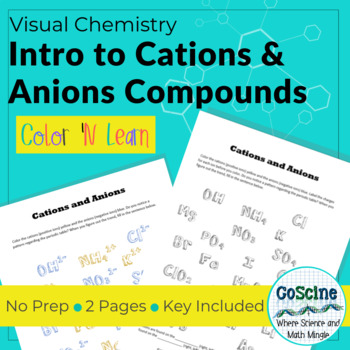 Learning Cations and Anions