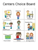 """Learning Center Choice Board / center signs and """"I Want"""" P"""