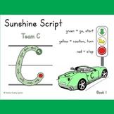 Learning Center Dry-Erase Pre-Handwriting Books - Sunshine Script
