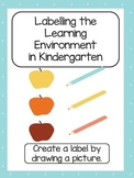 Writing in Kindergarten Labels