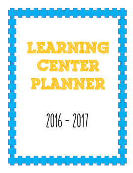 Learning Center Planner
