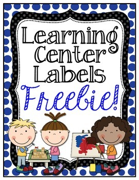 Learning Center Sign Freebie!