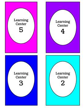 Learning Center Signs