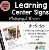 Learning Center Signs: Photographs