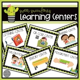 Learning Center Signs: Sweet Succulents Theme