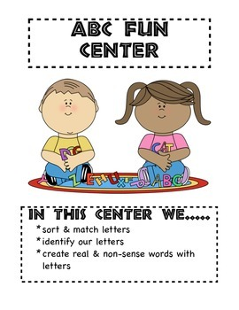 Learning Center Signs for the Classroom