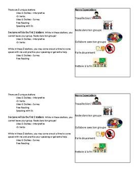 Learning Center directions - -er verbs, likes & dislikes